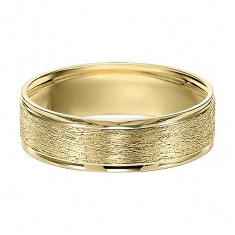 10k Gold Wedding Band by S 6 0mm Brushed Wedding Band In 10k Gold Wedding