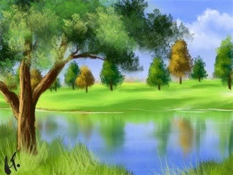 gimp tutorial landscape landscape painting using gimp paint studio tromp l oeil
