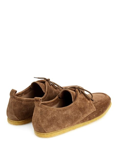 burberry shoes burberry prorsum crepe sole suede shoes in brown for