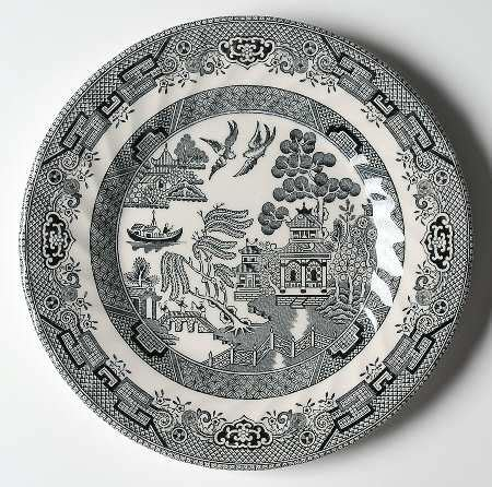 black and white willow pattern queen s black willow at replacements ltd