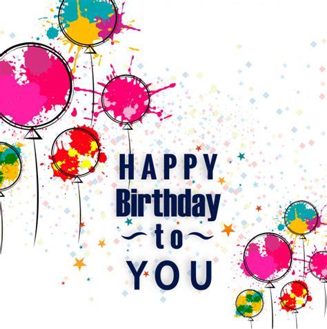 happy birthday design on thermocol gelukkige verjaardagskaart met aquarel hand getrokken