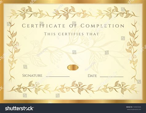 certificate diploma completion design template background