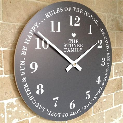 personalised family time clock by cute clocks