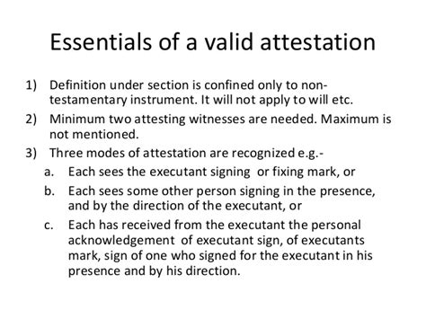 Attestation Letter Meaning Attestation