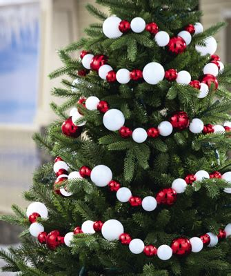 red white ball christmas ornament garland from