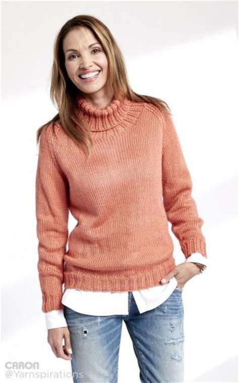 easy knit turtleneck sweater pattern persimmon ribbed turtleneck allfreeknitting com