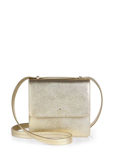 Kate Spade Gold 1 kate spade niconico metallic leather crossbody bag in gold lyst