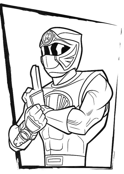 red ranger ninja storm coloring pages power ranger