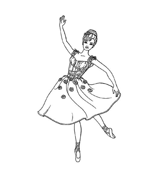 ballerina coloring pages print beautiful ballerina