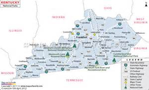 Kentucky State Parks Map by Kentucky National Parks Map