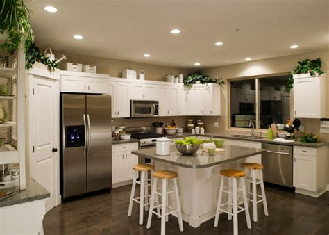 Kitchens With Different Colored Islands 35 striking white kitchens with dark wood floors pictures