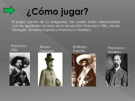 preguntas juego zapato juego didactico la revolucion mexicana