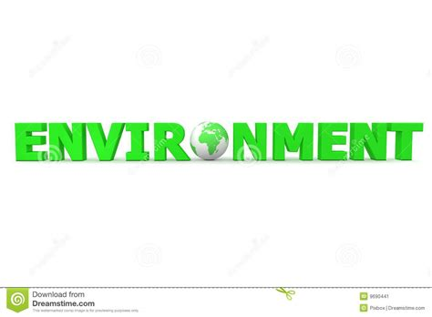 4 Letter Words Green environment world stock image image 9690441