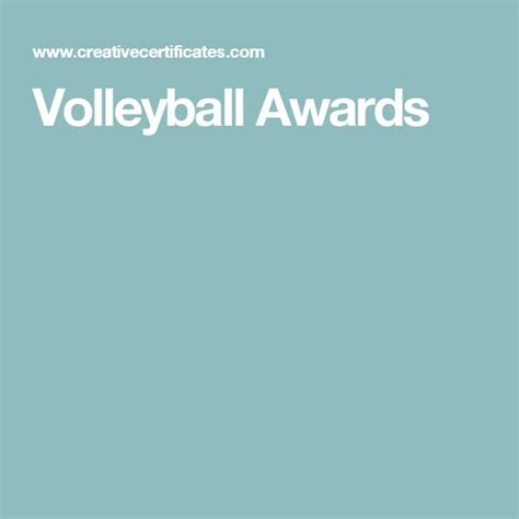 printable volleyball awards 19 best volleyball certificates free printables images on