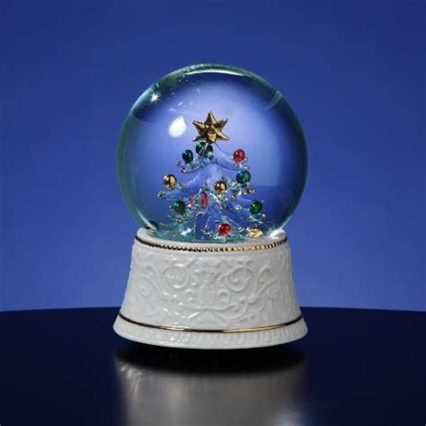 san francisco music box glass lighted tree water globe