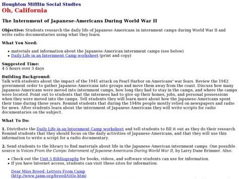 internment  japanese americans  world war ii