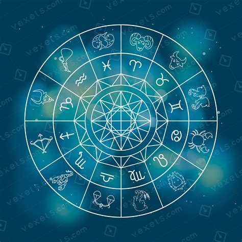 horoscope zodiac signs illustration free vector