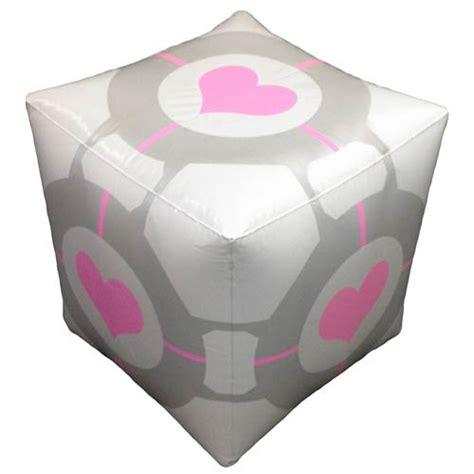 Portal 2 Companion Cube Inflatable Ottoman Gadgets Matrix