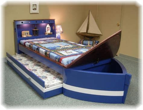 boat beds for toddlers boat bed with trundle and toy box storage children s