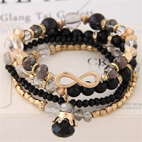 Gelang Korea Tassel Pearls Multi Layer Bracelet 1 fashion multi color pearls decorated multi layer