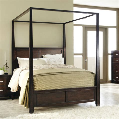 King Size Canopy Bed King Size Sturdy Wood Frame Canopy Bed In From Hearts Attic