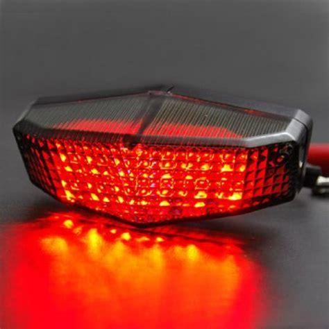 led lights cing motorcycle sport racing bike smoke led sport brake light taillight license plate for