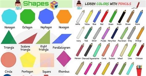 shapes and colors shapes and colors vocabulary in esl buzz