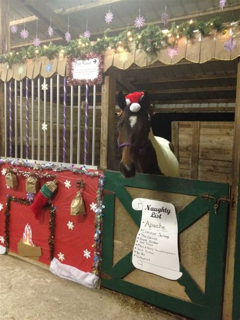 christmas decorating with horses 17 best images about stall decorating on signs oak and stalls