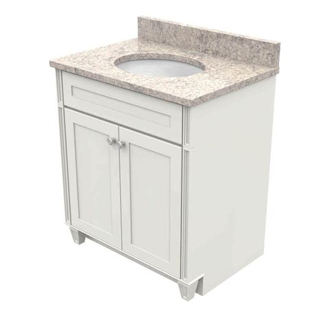 Kraftmaid Vanity Tops by Kraftmaid 30 In Vanity In Dove White With Quartz