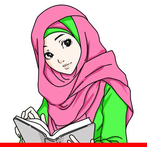 wallpaper animasi jilbab gambar dp bbm animasi muslimah bergerak terbaru kochie frog