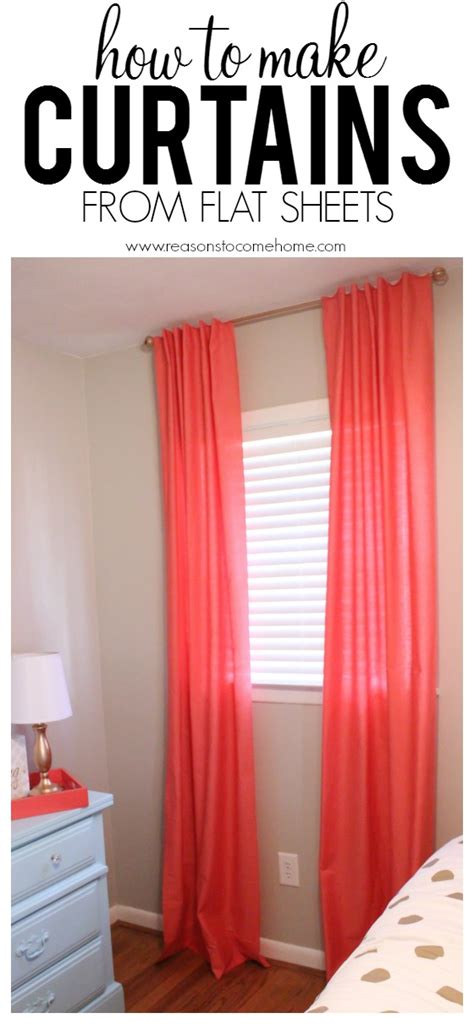making curtains from sheets diy archives reasons to come home