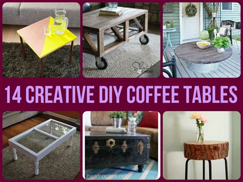 14 creative diy coffee tables