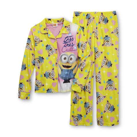 Pajamas Minion illumination entertainment s flannel pajama top minion