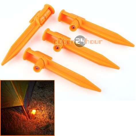 Pop Up Lantern Led Light 4pcs 1 4pcs lot led light up tent pegs stake illuminated cing trip survival lights in tent