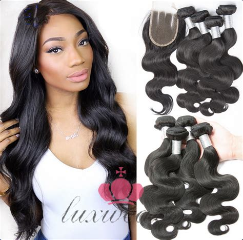 wiki closure hair extension peruvian virgin hair body wave hair weaves extensions with