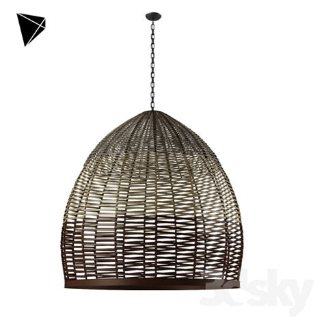 Wicker Pendant Lights 3d Models Ceiling Light Wicker Pendant L