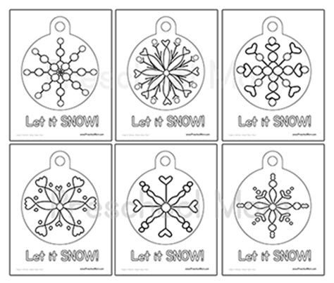 snowflake bentley worksheets free ornament preschool printables