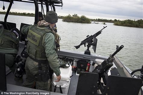 electric boat kings highway texas trooper standing on the border is hit by gunfire