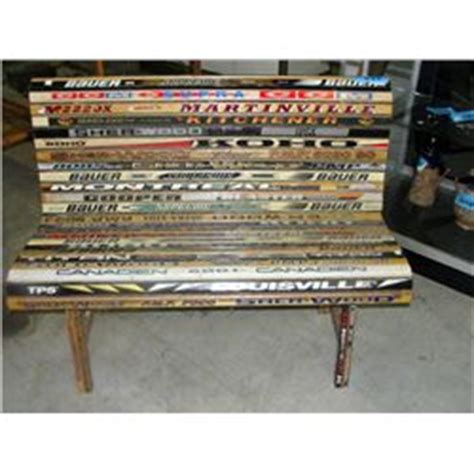 hockey stick bench hockey stick bench seat