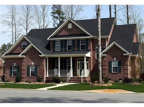 2 story country house plans two story home plans 2 story country traditional house plan 058h 0042 at