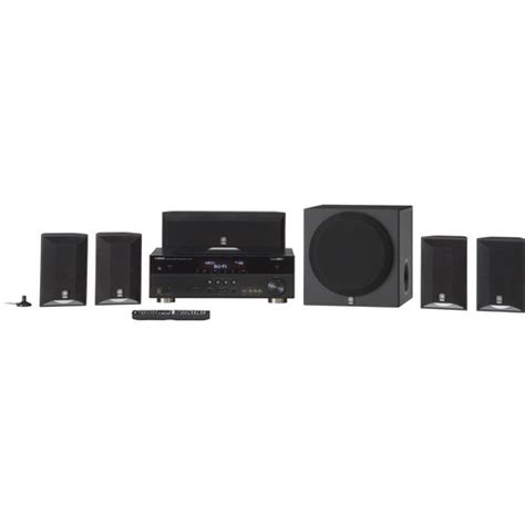 yamaha yht 595 5 1 channel home theater in a box yht 595bl b h