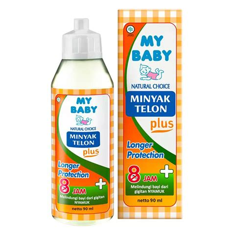 my baby minyak telon plus longer protection 8 jam 90ml