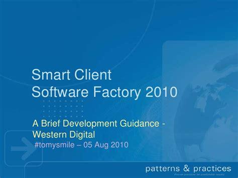 factory pattern web service smart client software factory 2010 auto design tech