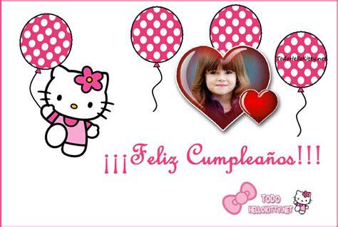 imagenes de cumpleaños kitty marco de feliz cumplea 241 os con hello kitty marcos para