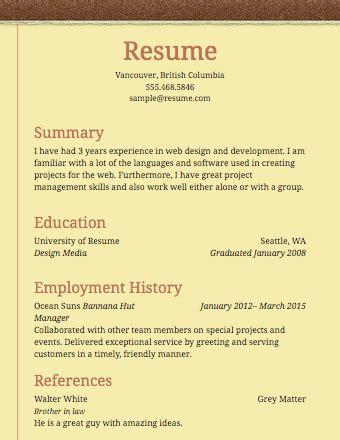 basic resume templates free sles exles format free