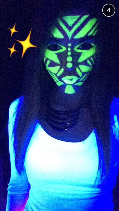 glow   dark face paint google search neon face