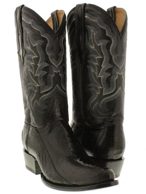 mens black cowboy boots 100 mens black real smooth ostrich foot leg leather cowboy