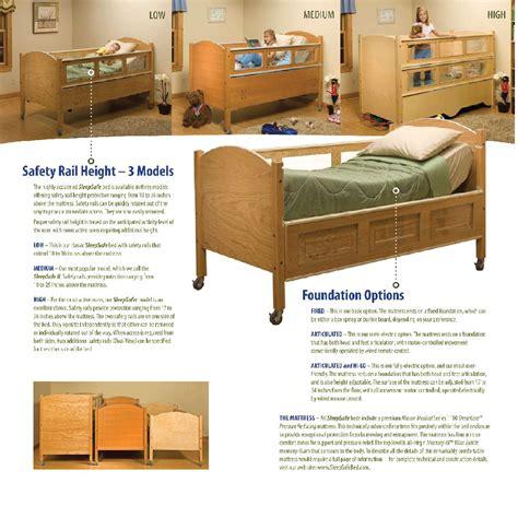 safe bed sleepsafer professional tall safety beds