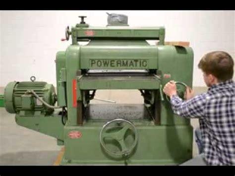 powermatic heavy duty model   wood planer hp youtube