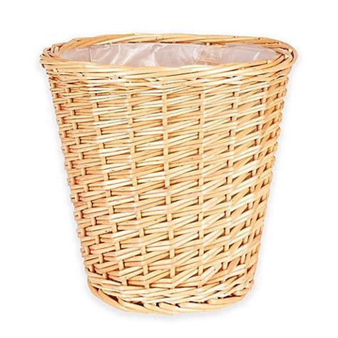 small wastebasket household essentials 174 small willow wicker wastebasket